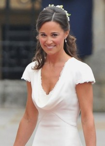 Pippa Middleton in white dress