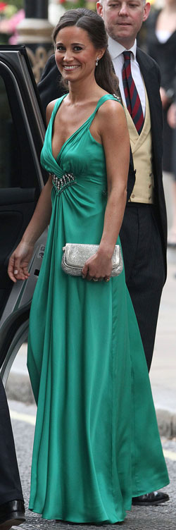 Pippa in green dress