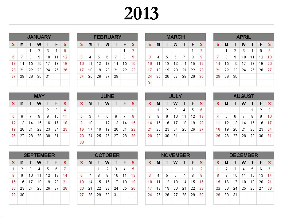 calendar 2013 event and observances | just b.CAUSE