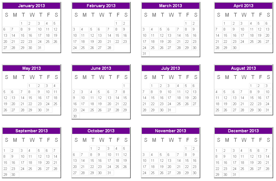 2013 Calendar Printable With Uk Holidays | Male Models Picture